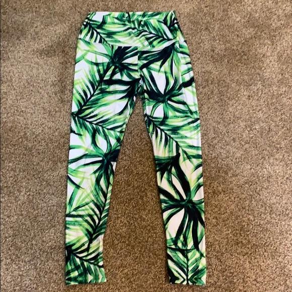 Pants - Pineapple Clothing Palm Tree Yoga Pants